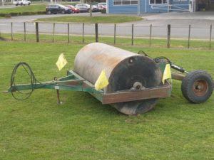 field roller pugged paddocks