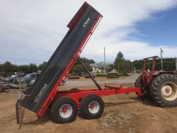 scimitar 8 tonne tip trailer
